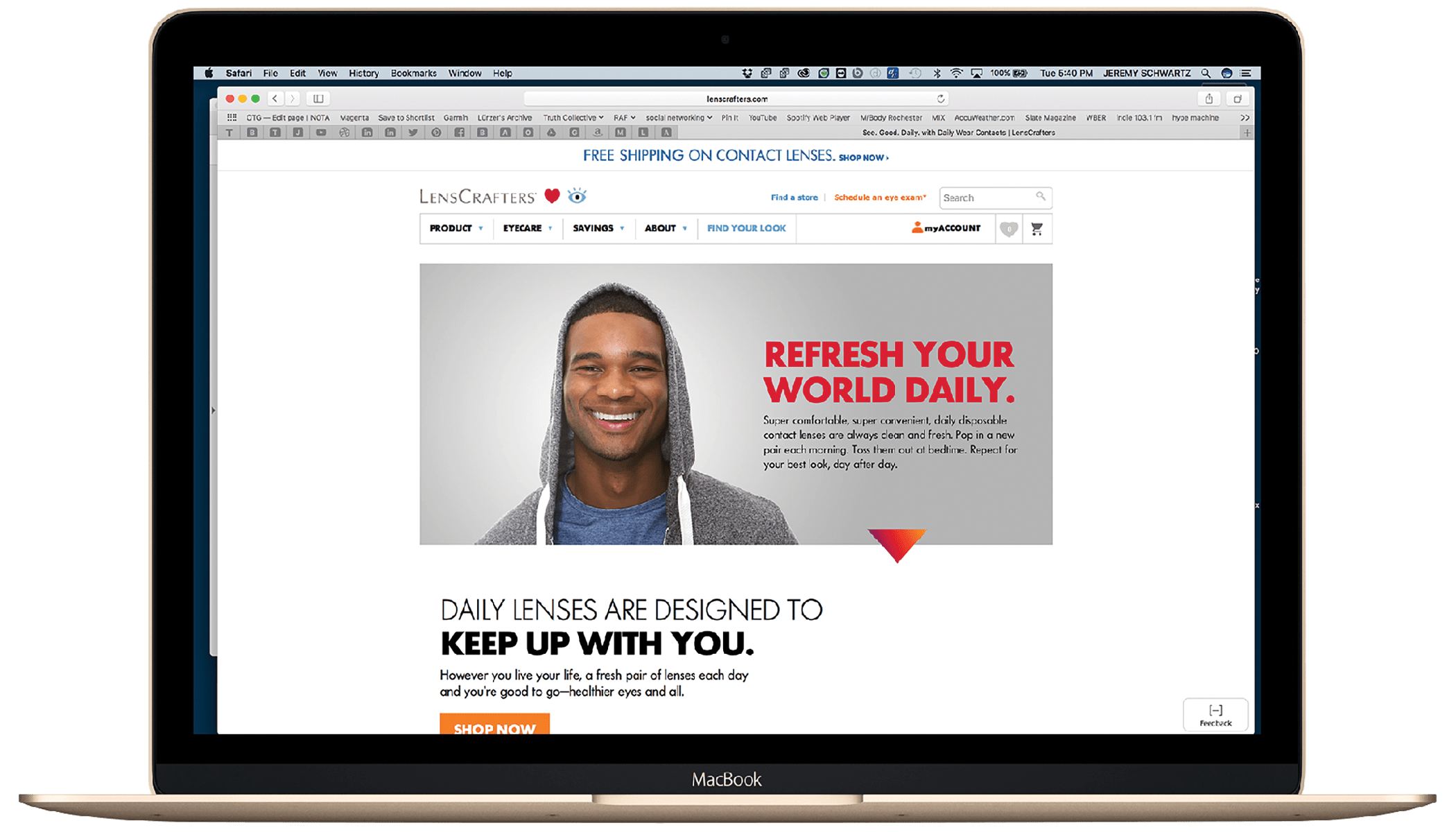 See. Good. Daily. campaign landing page on the LensCrafters' website