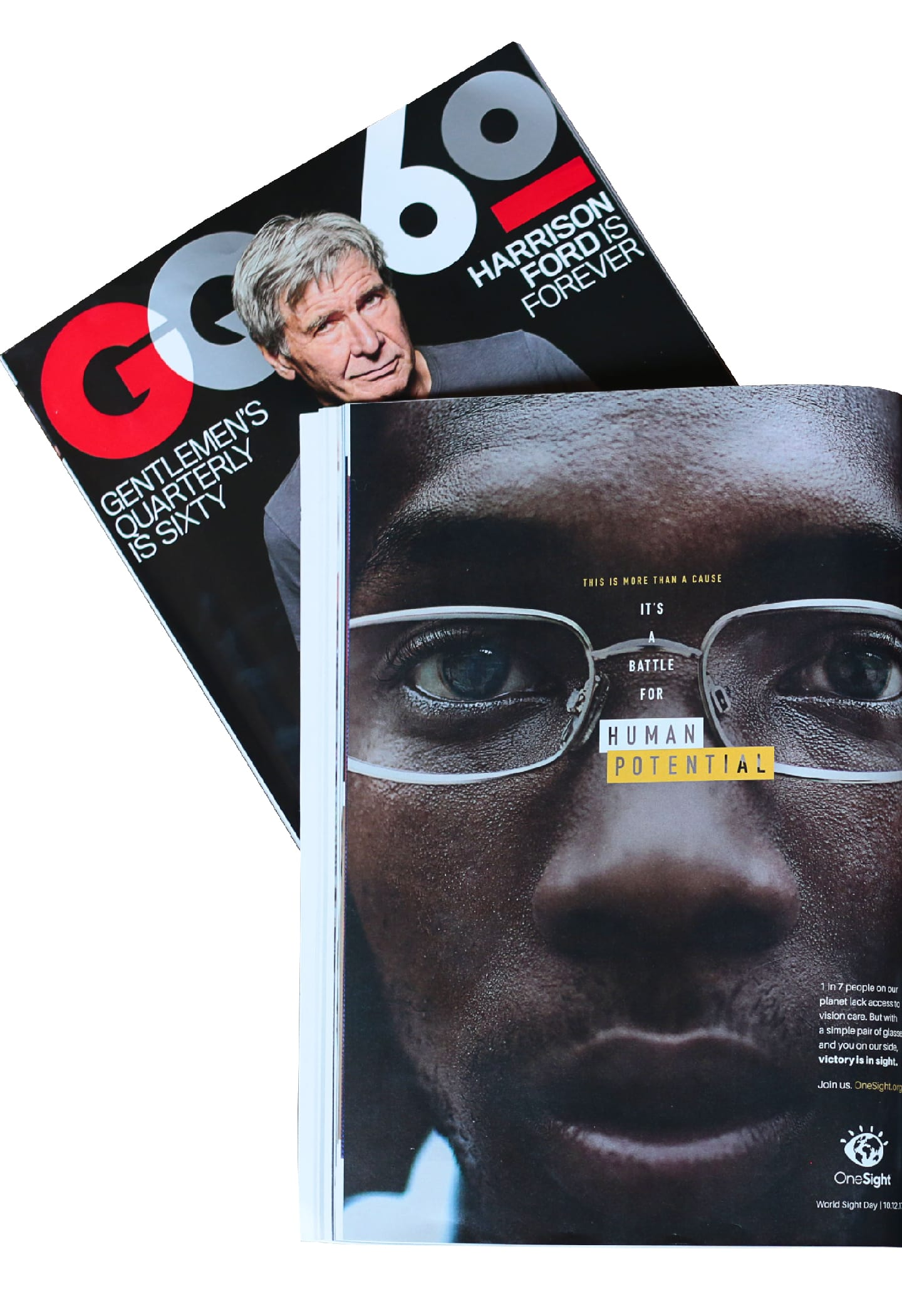 OneSight Victory is in Sight GQ magazine ad